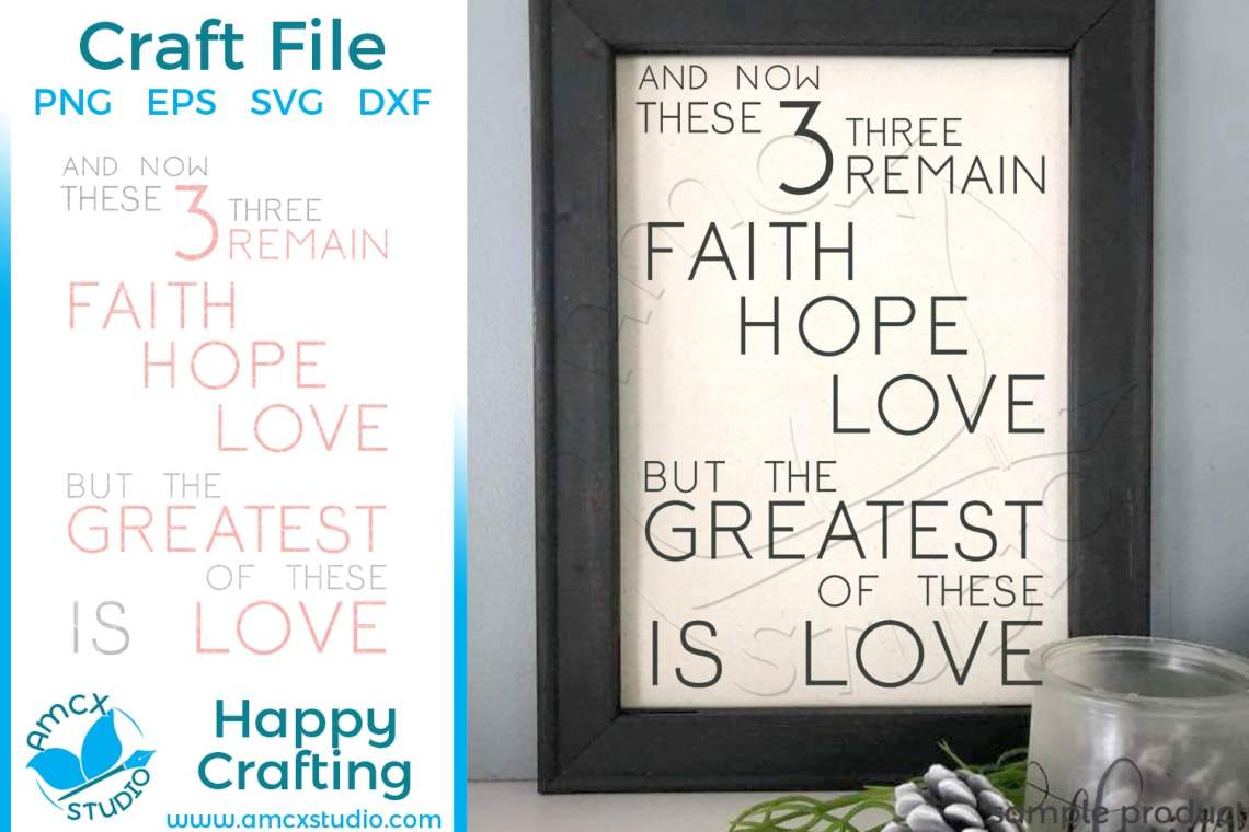 Download And the Greatest of these is love - SVG by AMCX Studio
