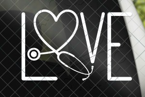 Love Stethoscope Vinyl Decal