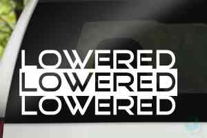 Lowered Car Decal