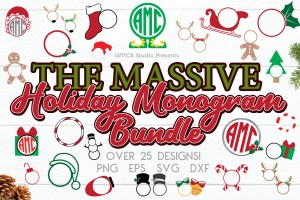 BIG Holiday Monogram Frame Bundle
