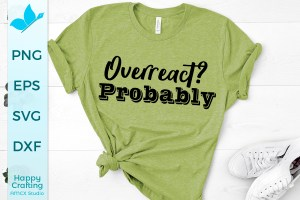 Overreact Probably SVG