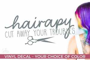 Hairapy – Salon Decal – Salon Gifts – Gifts for Hair Techs