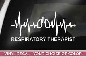 Respiratory Therapist car decal, RT Sticker