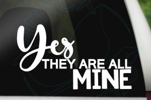 Yes they are all mine – Big Family Decal