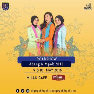 Roadshow Pemilihan Abang Mpok Depok 2018 di Milan Cafe Mei 2018