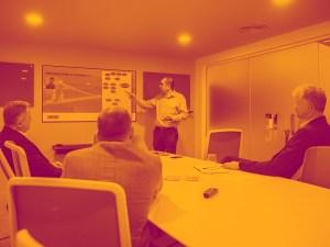 Amdaris Bristol office meeting process.