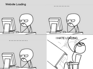 waiting for a slow site to load