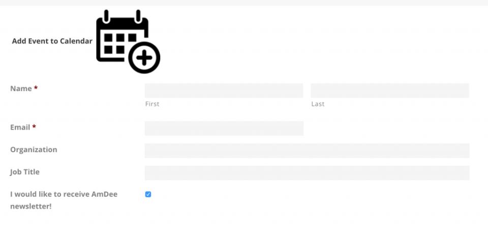 Screenshot of AmDee's Webinar Sign-up