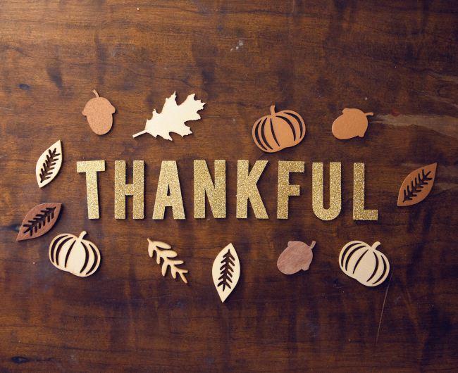 fall themed Thankful