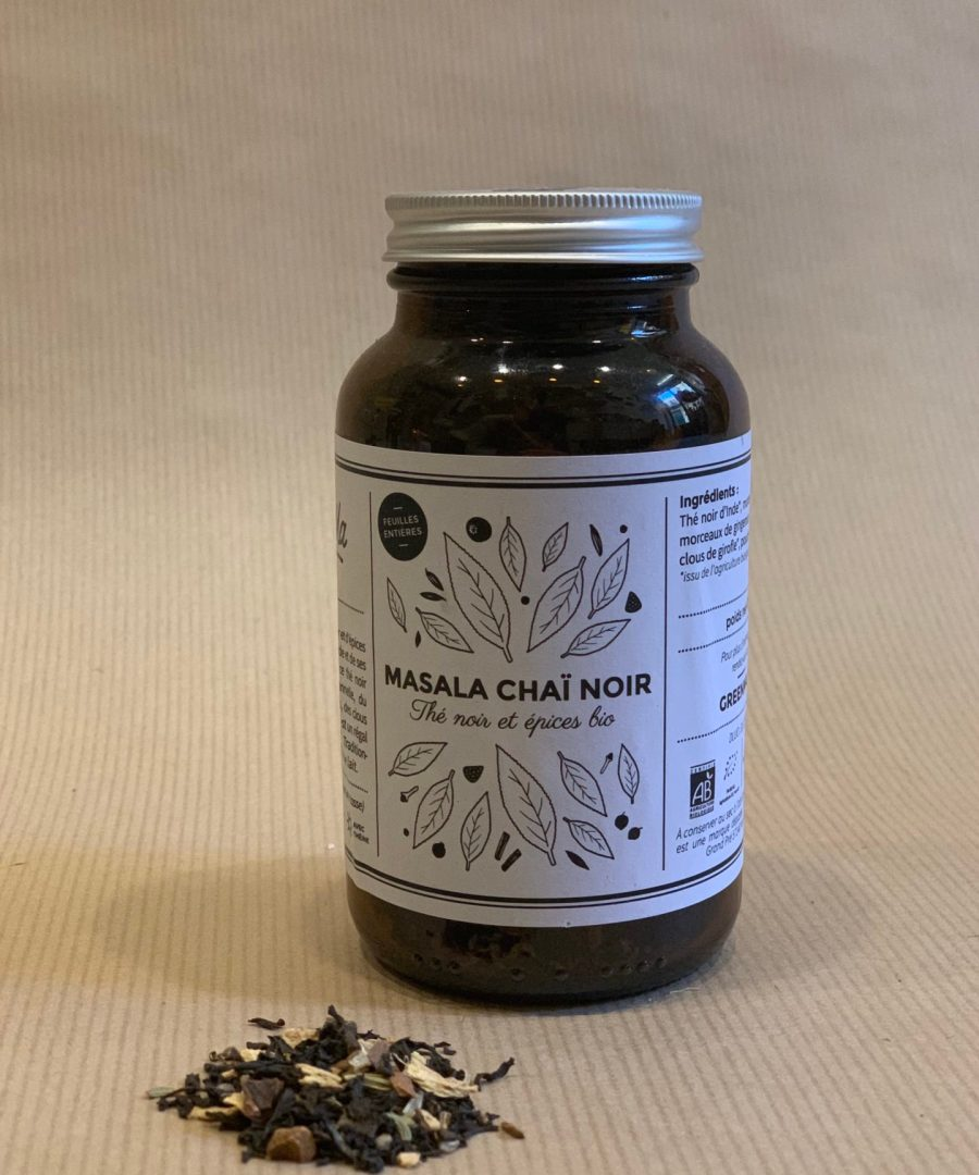 ÂME BORDEAUX, MASALA CHAÏ NOIR 70GR - GREENMA, THES, INFUSIONS, DIGEST, DETOX, THE NOIR, DREAM