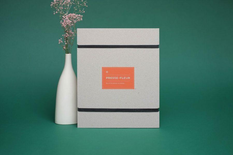 Âme Bordeaux, Kit Herbier & presse fleurs par Specimen