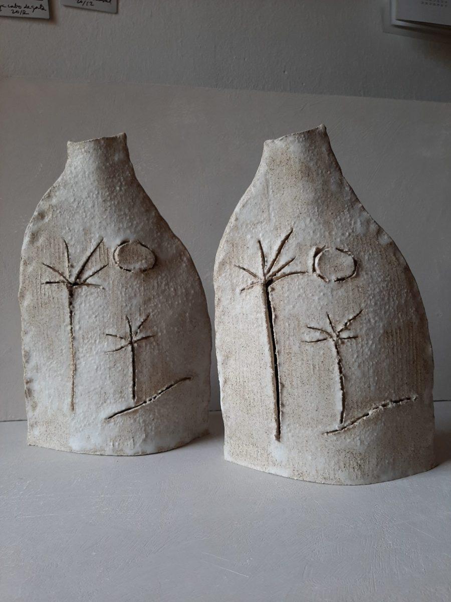 asterisque ball vase ceramique ame bordeaux artisanat