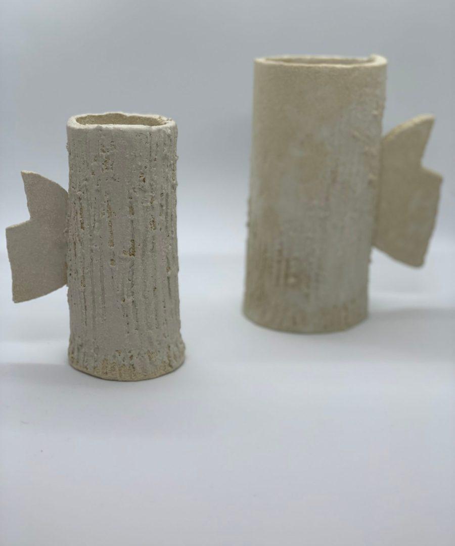 asterisque vase orb ame bordeaux céramique grès