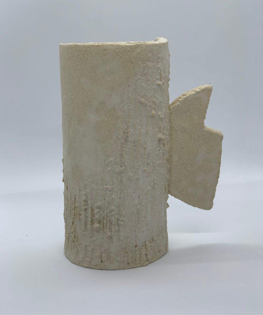 vase orb asterisque ame bordeaux ceramique