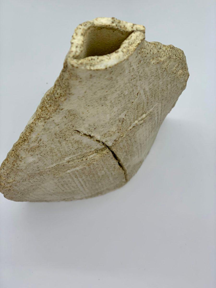 vase lan asterisque ame bordeaux ceramique