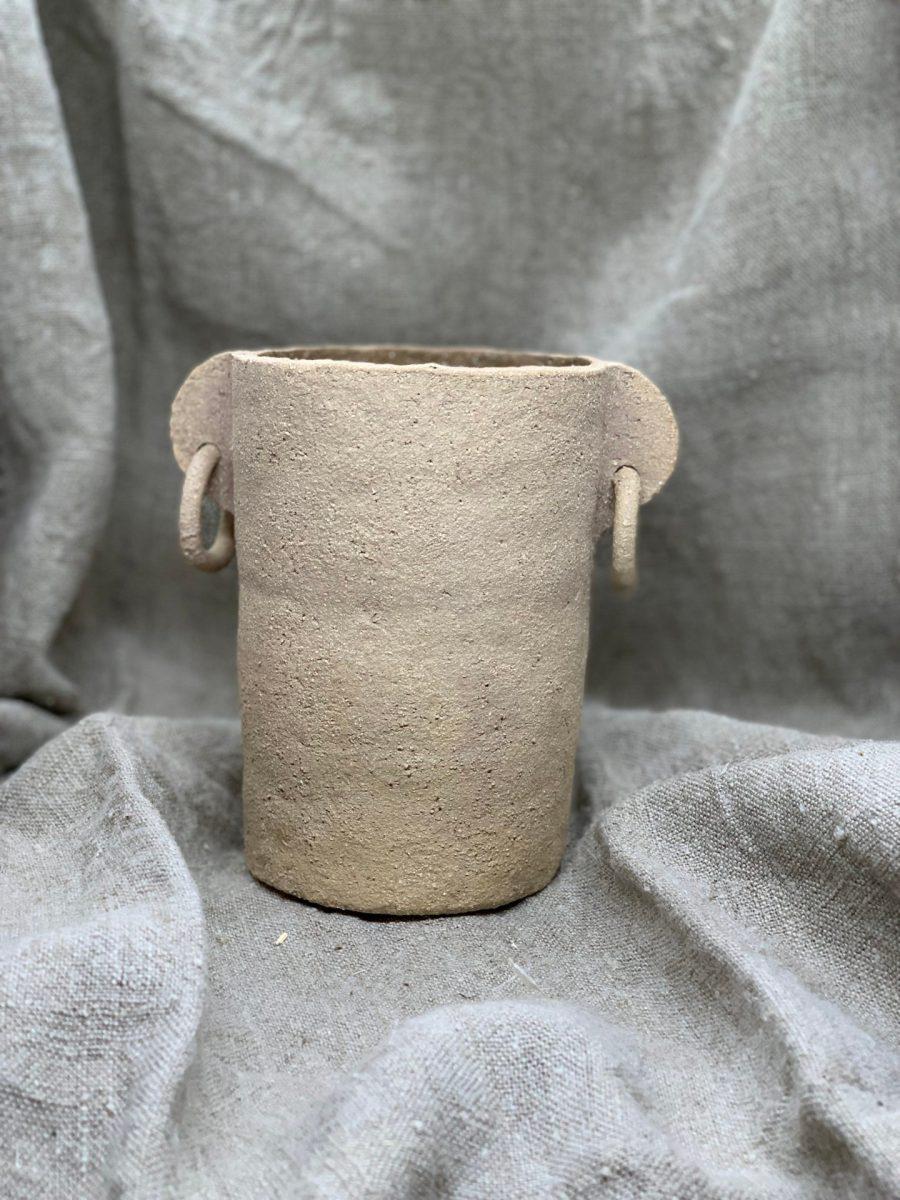 cassandre bouilly vase double boules gres roux ame bordeaux