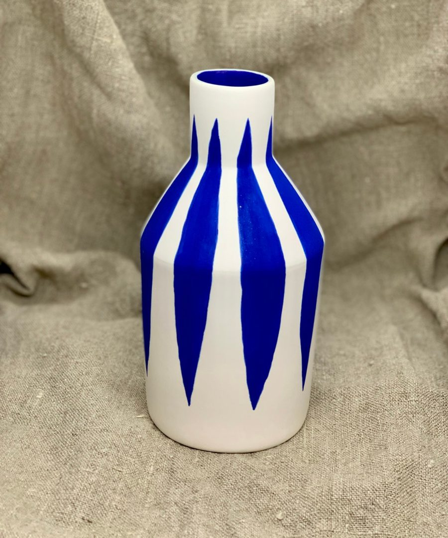 vasé strié sophie alda ame bordeaux