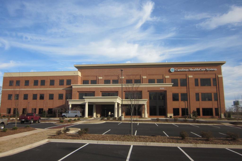 Exterior of Carolina Healthcare System building