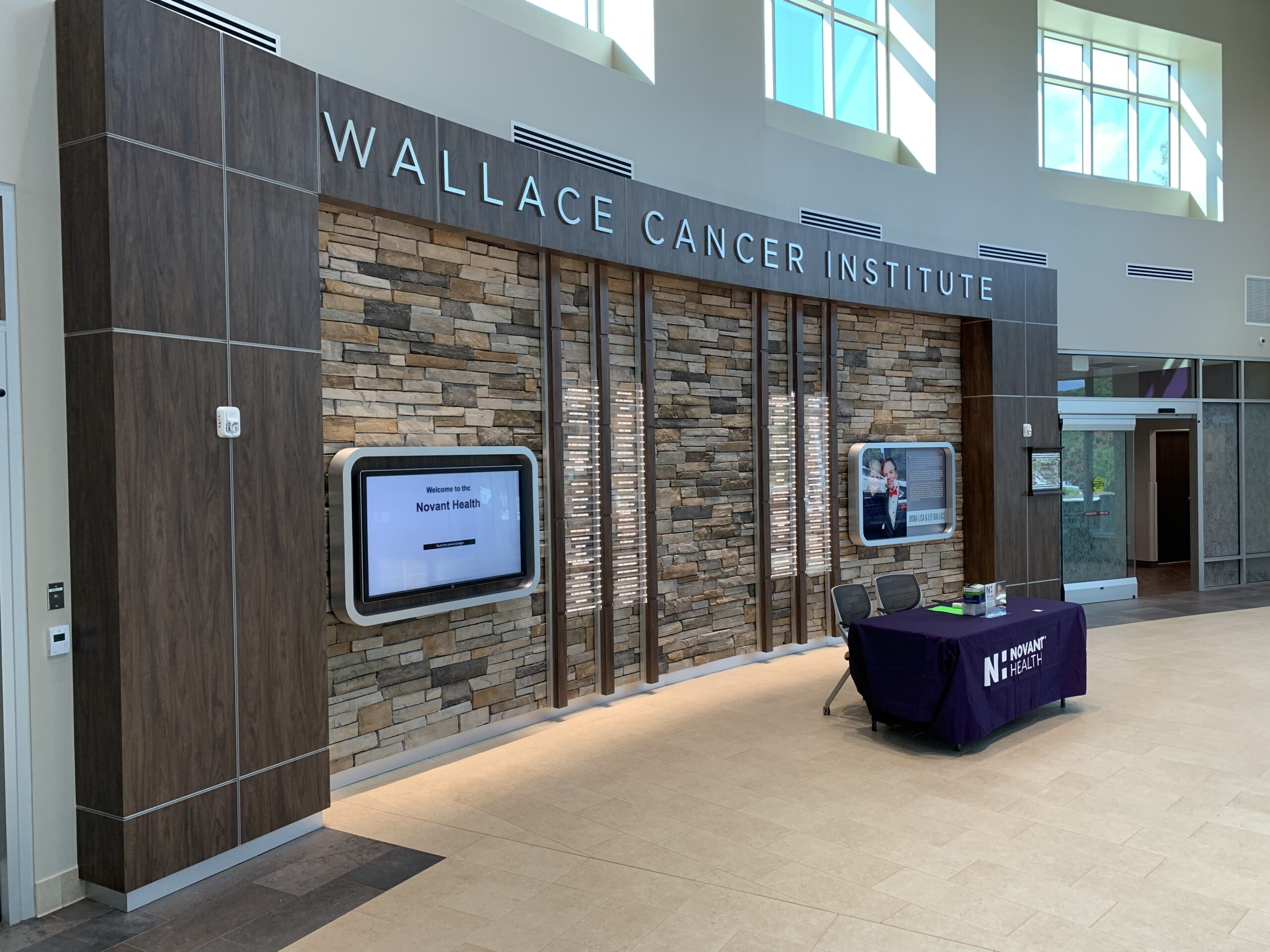 Entrance to the Wallace Cancer Institute