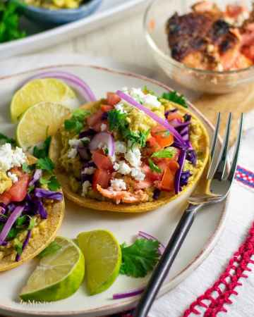 delicious almond crusted steelhead tacos