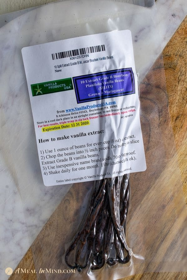 vanilla beans as received in shipping