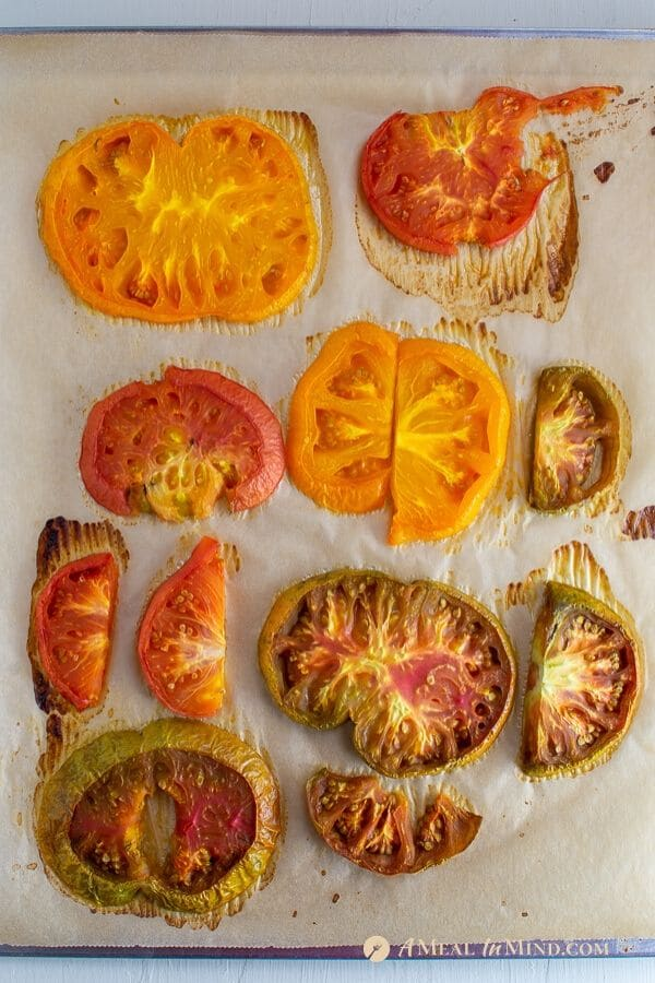 tomatoes for savory roasted heirloom tomato tart with chickpea-walnut filling