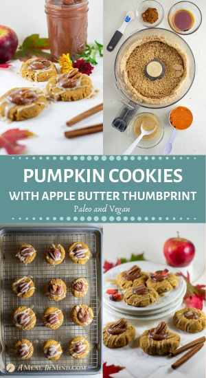 festive pumpkin cookies with apple butter thumbprint pinterest collage