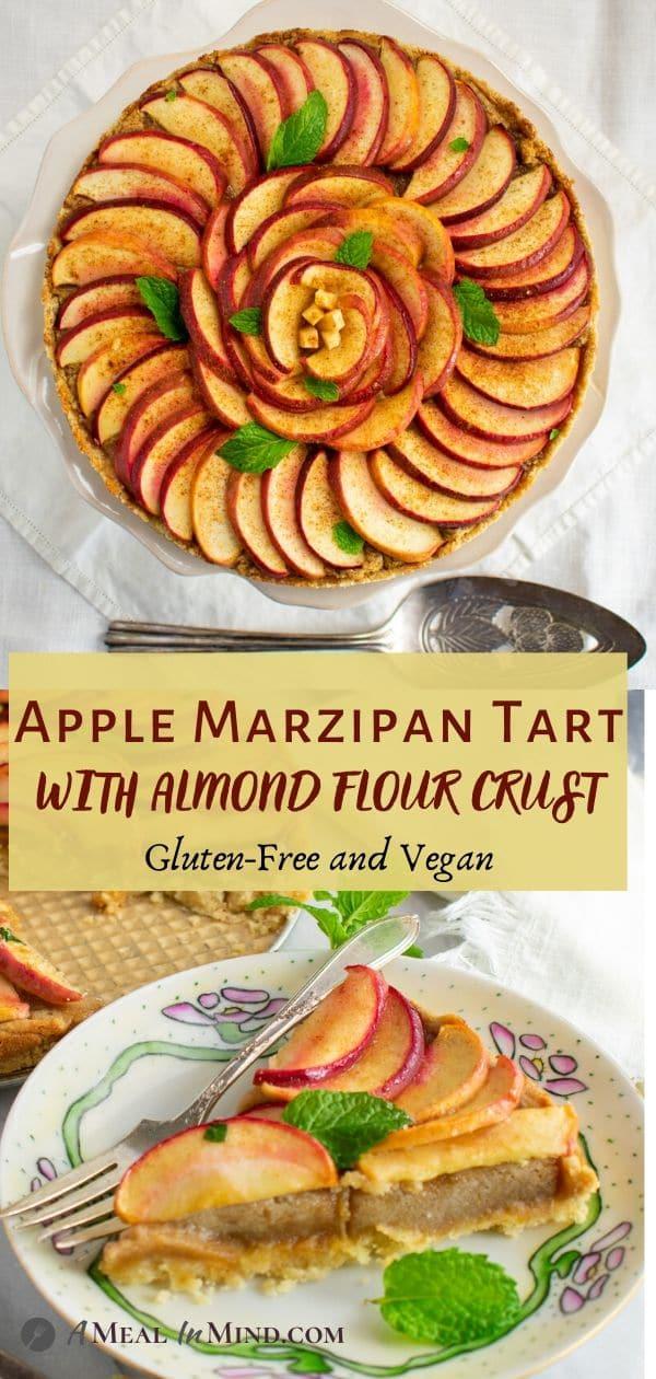 apple-marzipan tart with almond crust