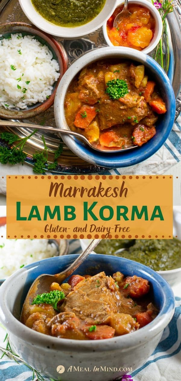 marrakesh lamb korma pinterest 2-image collage