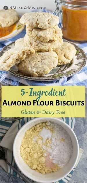 Almond Flour Biscuits - 5 ingredient pinterest collage
