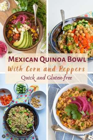 Mexican Quinoa Bowl with Corn and Peppers