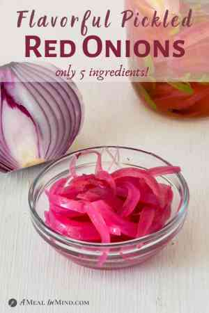 Pickled Red Onions - 5 Ingredients pinterest image
