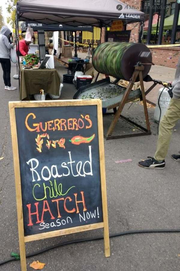 sign advertising roasting Hatch green chiles