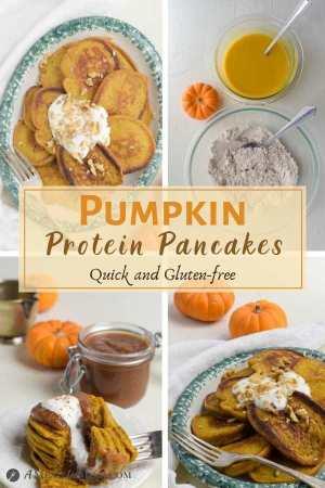 Pumpkin Protein Pancakes 4 image pinterest collage
