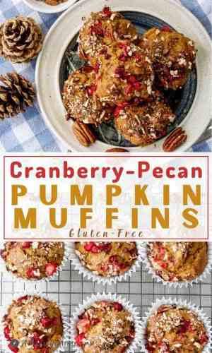 Cranberry-Pecan Pumpkin Muffins pinterest collage