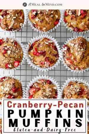 Cranberry-Pecan Pumpkin Muffins pinterest image