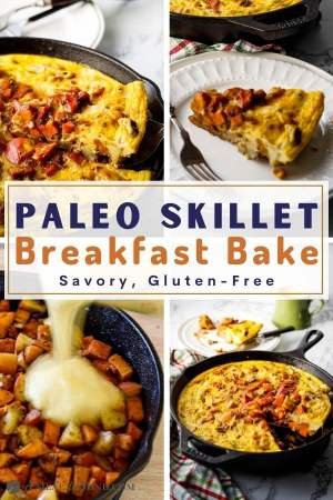 paleo sweet potato breakfast skillet pinterest collage