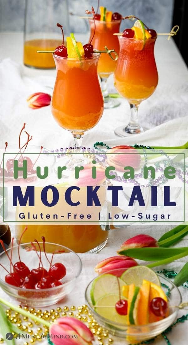 pinterest collage of hurricane mocktails
