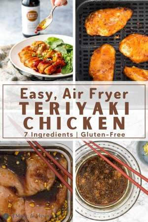 pinterest collage of teriyaki chicken gluten-free