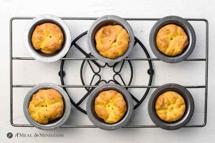 baked popovers in pan on trivet