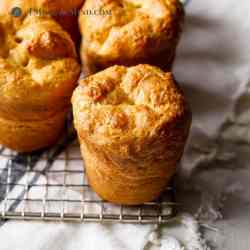 square image of tapioca popovers on cooling rack