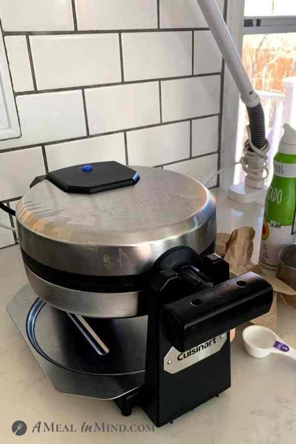 Cuisinart belgian waffle iron on counter