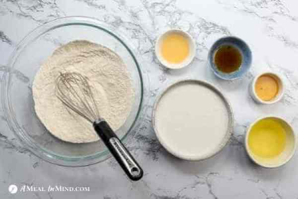 dry ingredients for waffles combined