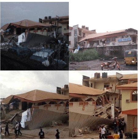 Many Lodgers Escape Death As Hotel Collapses In Ebonyi
