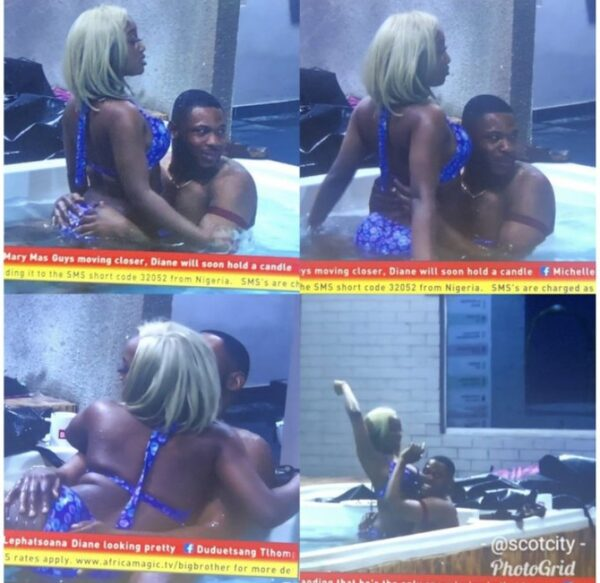 BBNaija: Frodd And Esther Spotted Having Fun In The Pool (Photos)