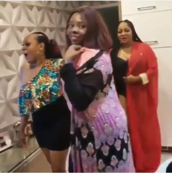 BBNaija: See Actress Uche Elendu And Friends Dancing  As Gedoni Gets Evicted
