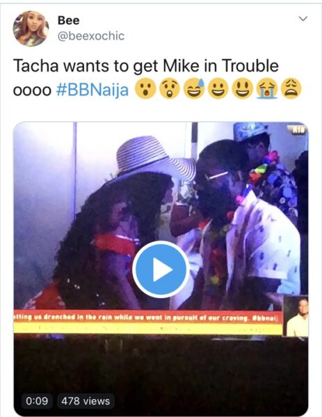 BBNaija: Tacha Gets Close To Mike During The Saturday Night Party. Fans React