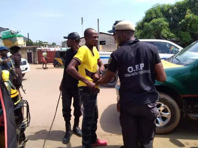 Anambra State Task Force Arrests Fake Revenue Collectors In Onitsha (photos)