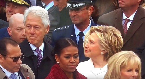 Bill Clinton Caught By Wife Hillary Clinton 'checking out Ivanka Trump' At The Donald Trump Inauguration