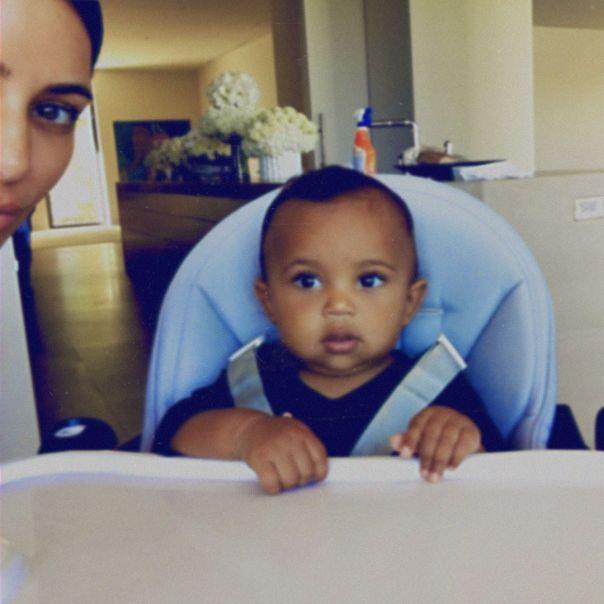 Kim Kardashian With Son Saint West Never-Before-Seen Selfies